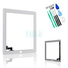 Touch Glass Digitizer Screen Lens for iPad 2 2nd Gen White Replacement w/Tools