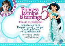 Personalizzati Inviti Festa Di Compleanno Disney Princess Gelsomino 8 Inviti Set