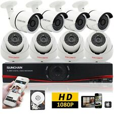 8 Channel HDMI DVR 1080P Indoor Outdoor AHD CCTV Kits Security Camera System 2TB
