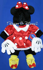NEW MINNIE MOUSE DRESS, EARS, SHOES BUILD-A-BEAR TEDDY COSTUME DISNEY OUTFIT
