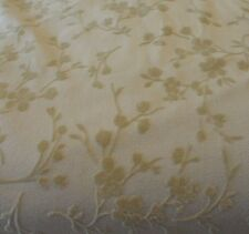 Flocked fabric – Tone on tone flowers in tan