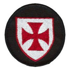LOT OF 2 - KNIGHTS TEMPLAR  SHIELD EMBROIDERED PATCH