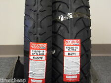 "TWO TIRE SET MOTORCYCLE TIRES 110/90-19 FRONT 170/80-15 REAR  K657 K671 19"" 15"""
