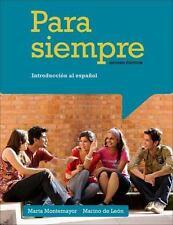 Para siempre: Introduccion al espanol (World Languages), Montemayor, Marta, de L
