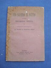 SGUARDO AL FUTURO OVVERO TESTAMENTO POLITICO DI GIUSEPPE RICCIARDI-NAPOLI 1879