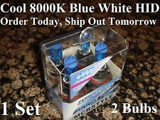 8000K Blue 9007 Bi-Xenon HID High Low Beam Headlight Light Halogen Bulbs