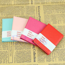 1Pc Memo Charming Cute Diary Notebook Portable Mini Smile Smiley Paper Note Book