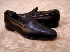 Bally Mens Black Leather Loafers Size 9.5 D / 8.5 EU