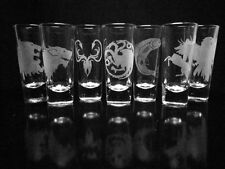 Game of Thrones Set of 4 - Choice of Four House Shooter Shot Glasses