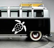 2x Large sea turtle surf surfing vinyl car van graphic decal stickers graphics
