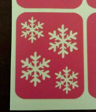 Snowflake nail stencil vinyl snow flake winter christmas decal sticker