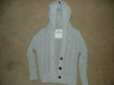 """GIRLS HOLLISTER 3 BUTTON FRONT HOODED SWEATER"", SIZE XS"
