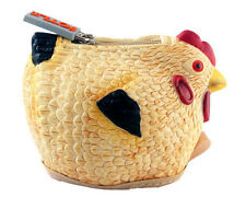 New CHICKEN HEN ROOSTER HEN Soft Rubber COIN PURSE Bag Pouch PYLONES Henbag
