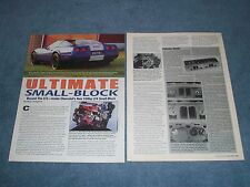 """1995 Chevy Corvette LT4 330hp Engine Info Article """"Ultimate Small-Block"""""""