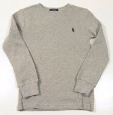 Polo Ralph Lauren Boy's Waffle Knit L/S Thermal Crew Neck T-Shirt
