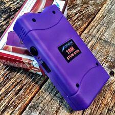 MONSTER PURPLE 18 Million Volt Stun Gun Rechargeable w/LED light & Holster
