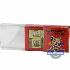 1 Nintendo Game & Watch Multi Screen Box Protector STRONG 0.5mm PET Display Case