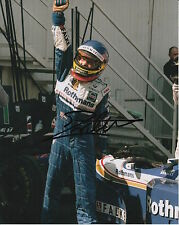JACQUES VILLENEUVE HAND SIGNED ROTHMANS WILLIAMS RENAULT FORMULA 1 12X8 PHOTO.