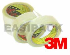 """2 Rolls of 3M Scotch 371 CLEAR Packing 1"""" Tape 25mm x 66m"""