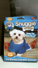 Snuggie for Dogs SN221116 Blanket Coat with Sleeves, Extra Small Blue FREE SHIP