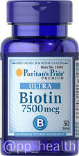 Puritan's Pride Maximum Biotin 7500 mcg Skin&Hair Health US Seller MADE IN USA 9
