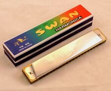 New Swan Tremolo Harmonica / 20 Holes 40 Tones Key of C Harmonica / FREE POST