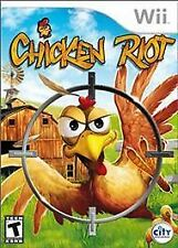 Chicken Riot (Nintendo Wii, 2010) Complete: Game, Box & Guide