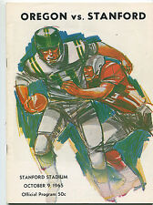 Stanford vs  Oregon   College Football Program Oct 9,1965    MBX66