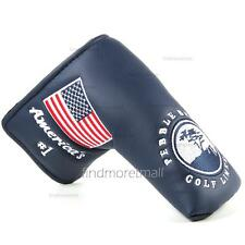 Navy Pebble Beach Style Blade Golf Putter Head Cover for Odyssey Titleist Adams