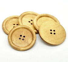 10 Extra Large Natural Wooden Button - 5cm - 2 inch -  4 hole (B18941)