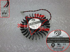 Power Logic PLB05710S12H  Graphic Card Cooling Fan 12V 0.2A Sleeve 2-Pin