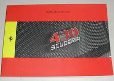 Manuale di istruzioni/manuale FERRARI 430 scuderia di 2008