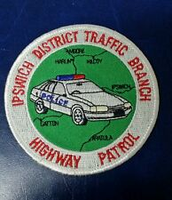 IPSWICH, AUSTRALIA DISTRICT TRAFFIC BRANCH HIGHWAY PATROL POLICE SHOULDER PATCH