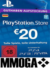 PSN Network Card 20€ EUR - 20 Euro Playstation Prepaid Key Sony PS3 PS4 PSP - DE