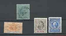 MAURITIUS 1898-02 SCOTT #'s 112 MNG, 115 USED, 124 & 125 USED FREE WORLD SHIP