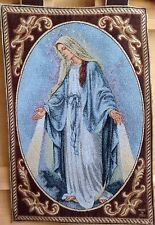 Merciful Mother, Mary, Tapestry Wall Hanging Woven In Italy