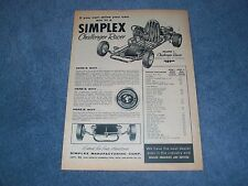 "1960 Simplex Challenger Racer Vintage Ad ""If You Can Drive You Can Win.. Go-Kart"