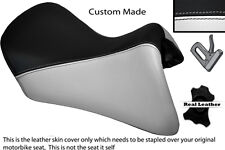 BLACK & WHITE CUSTOM FITS BMW R 1200 RT FRONT LEATHER SEAT COVER FOR A LOW SEAT