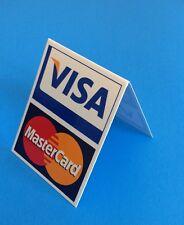 Visa/MasterCard Tent Sign