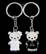 2 Porte-clés, bijoux de sac, motif mignon couple ourson, ours.