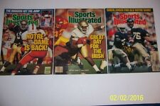 1988 Sports Illustrated NOTRE Dame NATIONAL CHAMPIONS Tony RICE Set of 3 N/Label