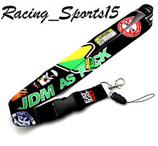 JDM AS FCK Lanyard Racing Keychain Strap Quick Release 2 SIDED PRINT NEW HONDA