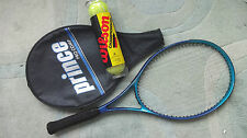 PRINCE PRO COMP TENNIS RACQUET WIDEBODY HARDLY USED  W COVER & 4 NEW BALLS