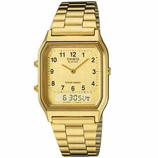 Casio AQ-230GA-9B Men's Analog Digital Dual Gold Metal Band Watch COD PAYPAL