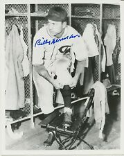 1930s Photo of Cubs HOFer Billy Herman in Dugout- with AUTOGRAPH
