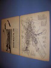 VINTAGE..FOCKE-WULF FW 190..CUTAWAY/LEGEND/PHOTO..RARE! (843)