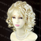 Lovely Short Wig Curly Pale Blonde Summer Style Skin Top Ladies Wigs WIWIGS UK