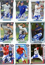 BRETT GRAVES SIGNED 2014 BOWMAN DRAFT TOP PROSPECT BDP ROOKIE CARD AUTO