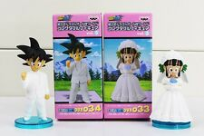 New Anime Dragon Ball Son Goku/Gokou ChiChi Wedding PVC Figure Toys 9cm 2pcs/set