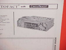 1966 CHRYSLER DODGE POLARA DART PLYMOUTH BARRACUDA AM-FM RADIO SERVICE MANUAL 66